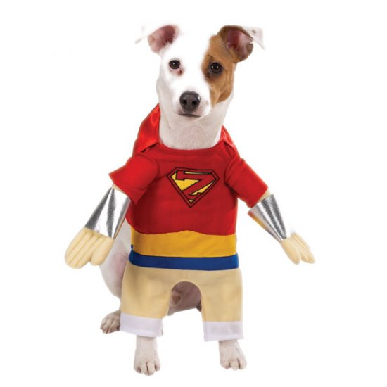LARGE Superhero Pet Halloween Costume Dog