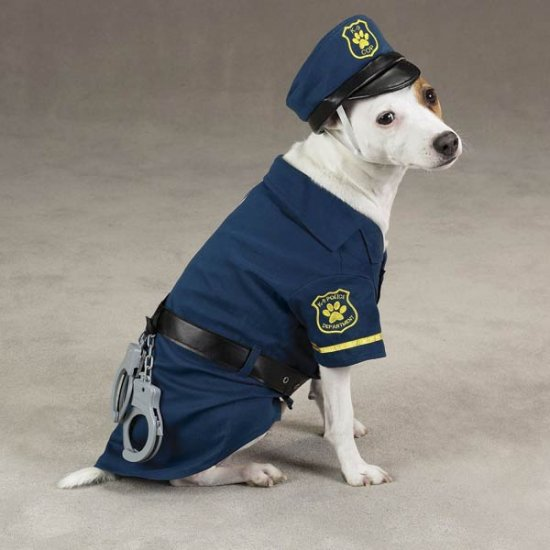 LARGE K-9 Cop Dog Halloween Costume Pet Police Officer