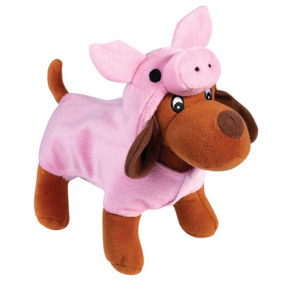 Zanies Halloween Costume Style Dog Squeaky Toys Piggy Pooch