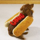 LARGE Hot Diggity Dog Halloween Pet Costume Ketchup or Mustard