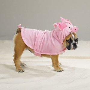SMALL Piggy Pooch Pet Halloween Dog Costume Pig