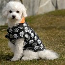 MEDIUM Skull Shirt Halloween Dog Costume