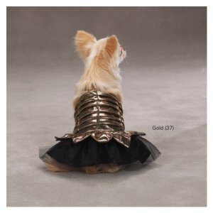 XX-SMALL Princess Dress Halloween Dog Costume Gold