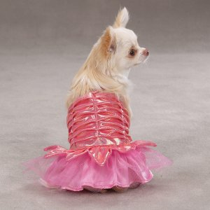XX-SMALL Princess Dress Halloween Dog Costume Pink