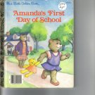 AMANDAS FIRST DAY OF SCHOOL