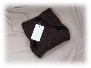 Brown Wool Cloth Diaper Cover Soaker Wrap