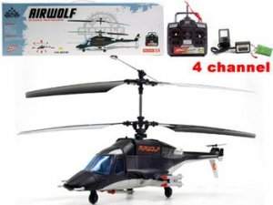 4 Channel Remote Control  Airwolf Helicopter RC
