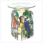 Birds Stained-Glass Oil Warmer