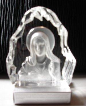 Crystal Madonna Sculpture