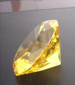 crystal golden diamond