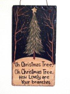 Christmas Tree Slate Sign