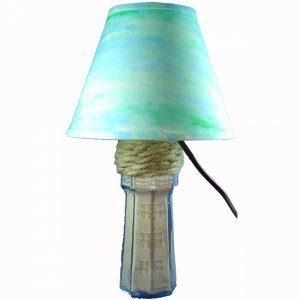 Handcrafted Teal Waters Lighthouse Accent Lamp