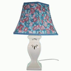 Decorative Desk Lamps on Blue Flowers Decorative Table Lamp