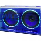 "PLNBP-212  Blue Wave Dual 12"" Full Plexi-Box Neon Bandpass Subwoofer System"