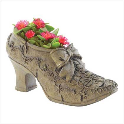 Antique Shoe With Bow