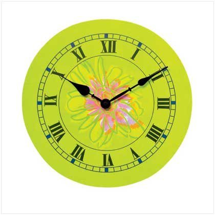 Abstract Flower Clock