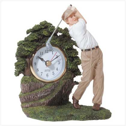 Swinging Golfer Clock