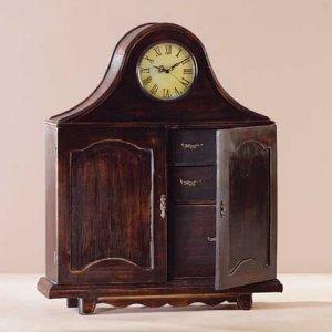 Wood Mantel Clock Cabinet