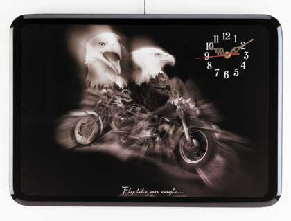 Eagle and Motorcycle Wall Clock