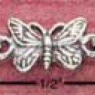 Sterling Silver Antiqued Butterfly Anklet