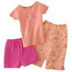 CARTERS 3PC GLAMOUR GIRL PJ SET SZ 4 NWT FREE SHIPPING!!