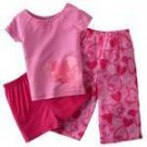 CARTERS BALLET SLIPPERS 3PC PJ SET SZ 4 NWT FREE SHIPPING!