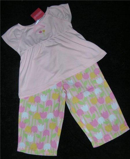 Gymboree Tip Toe Tulip Summer Pink Pj's Sz 4 NWT FREE SHIPPING!!