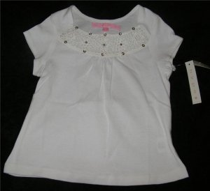 Girls White Sequin Top Sz 6X NWT FREE SHIPPING!!