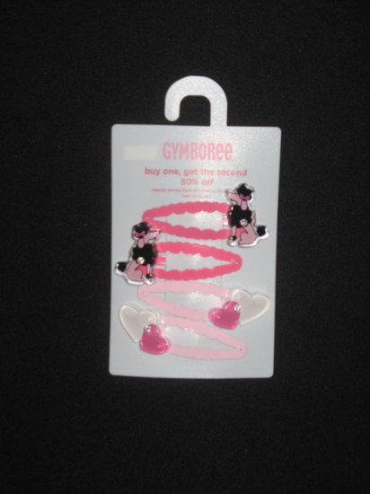 Gymboree Tres Chic Hair Clips Poodle Hearts NWT FREE SHIPPING!!!