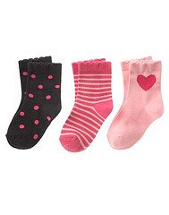 Gymboree Tres Chic 3 pack of socks Sz 0-6 mo NWT So Cute..