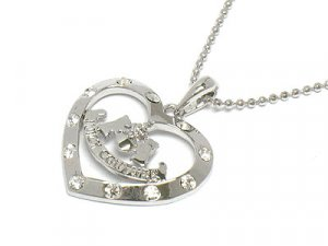 Juicy Couture Heart Logo Necklace