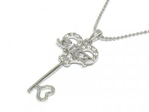Juicy Couture Key Heart Necklace
