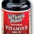 Vitamin D Softgel caps 400 IU 100 Count