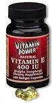 Natural Vitamins E 400 IU Softgels 100 Count