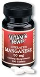 Manganese 50 mg Tablets 100 Count