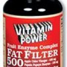 Fat Filter 500 Fruit Enzyme Complex Tablets 100 Count