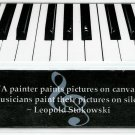 Piano Keys Photography Bookmark