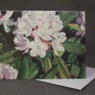 """Rhododendron""- Colored Pencil Artwork- Greeting Card Notecard Blank"