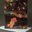 "4 Blank Christmas Holiday Greeting Cards Notecards- ""Happy Holidays!""- Photograph"