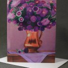 "4 Blank Greeting Cards Notecards- ""Four Years Ago""- Flowers- Colored Pencil Artwork"