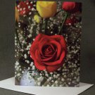 "4 Blank Greeting Cards Notecards- ""Roses""- Photograph"