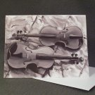 """Two Violins""- Acrylic Artwork- Greeting Card Notecard Blank"
