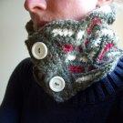 Adirondack Neckwarmer- Scarf - Handmade Crochet