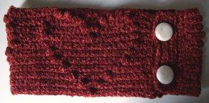 Bobble Heart Cowl- Neckwarmer- Scarf- Crochet PATTERN