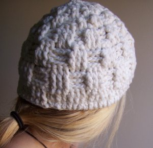Basket-Weave Hat- Crochet PATTERN