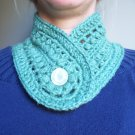 Pretty Puffs Buttonhole Neckwarmer-  Crochet PATTERN
