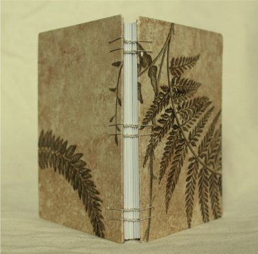 Handmade Coptic Bound Journal-Notebook-Sketchbook: Ferns