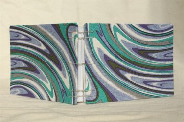 Handmade Coptic Bound Journal-Notebook-Sketchbook: Purple Swirls