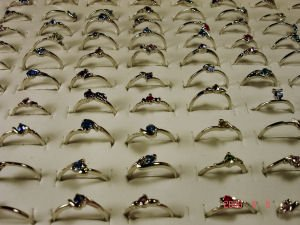 NEW WHOLESALE LOT OF 100 18K WHITE GP FASHION RINGS