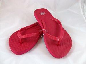 Women's Red Flip Flops - size 6